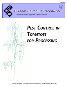 Pest Control in Tomatoes for Processing, PPP-101