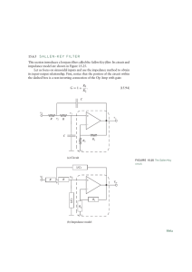 15.6.5 SALLEN-KEY FILTER This section introduces a lowpass filter