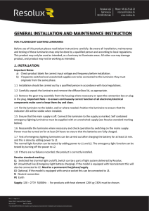 general installation and maintenance instruction