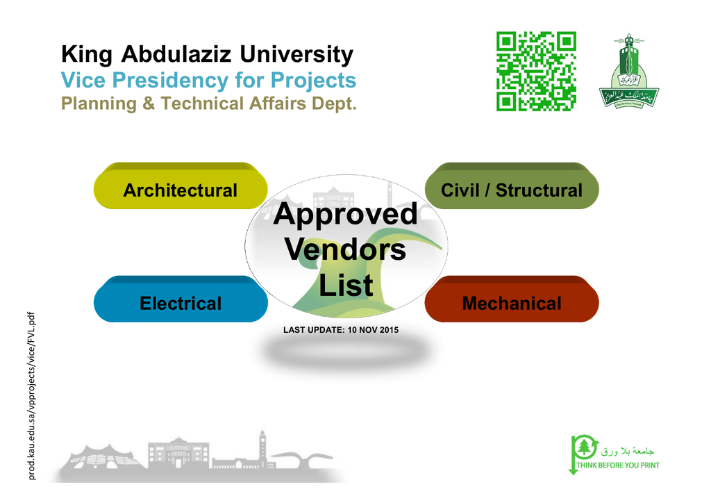 Approved Vendors List