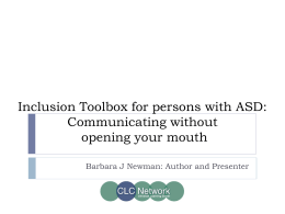 Inclusion Toolbox for persons with ASD: Communicating without