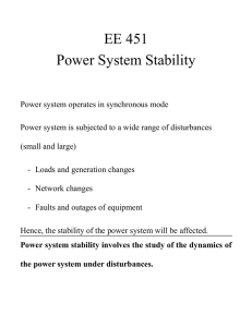 EE 451 Power System Stability