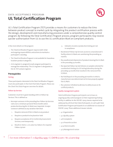 UL Total Certification Program