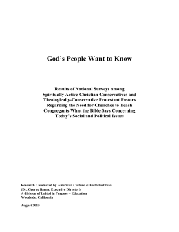 God`s People Want to Know