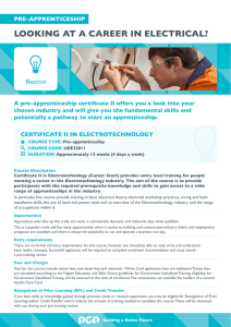 looking at a career in electrical?