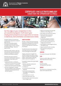 Electrotechnology - Pre-apprenticeship