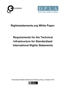 Rightsstatements.org White Paper: Requirements for the Technical