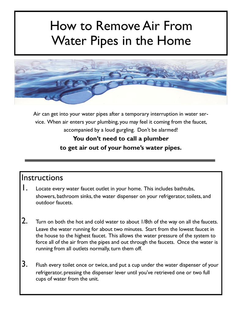 018188173_1-f6db7665eaab9c0750e0cc1ea8281f31.png  sc 1 st  studylib.net & How to Remove Air From Water Pipes in the Home