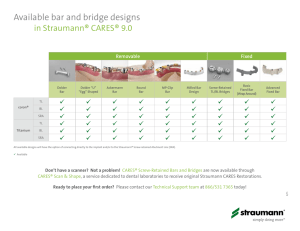 Available bar and bridge designs