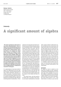 A significant amount of algebra