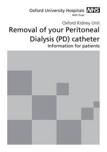 Removal of your Peritoneal Dialysis (PD) catheter