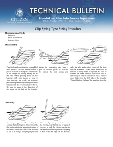 Tech Bulletin - Clip Spring Type Sizing Procedure.indd