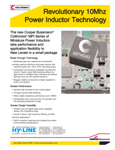 MPI4040 Miniature Power Inductors - HY-LINE