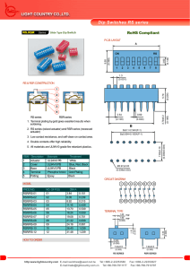 Dip Switches RS series - Light Country Co.,Ltd