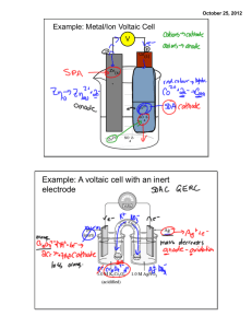 Voltaic Cell Part 2