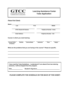 Learning Assistance Center Tutee Application