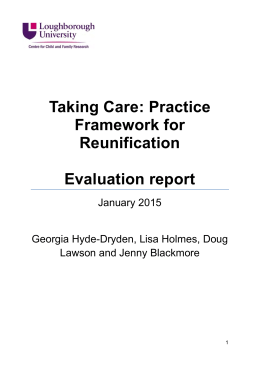 Taking Care: a practice framework for reunification