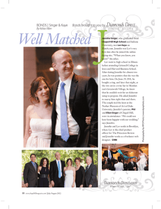 Well Matched - A Swanky Affair