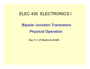 Introduction to Bipolar Junction Transistors (BJTs) ()