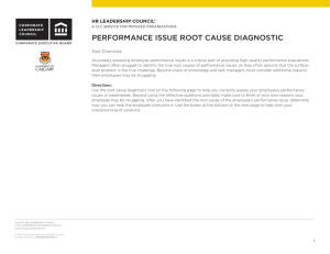 PERFORMANCE ISSUE ROOT CAUSE DIAGNOSTIC
