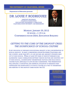 dr. louie f. rodriguez - School of Education