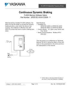Continuous Dynamic Braking