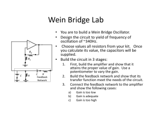 Wein Bridge Lab