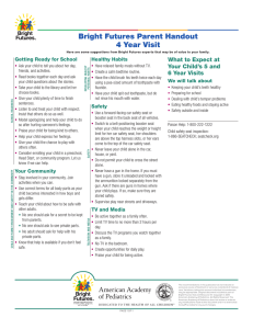Bright Futures Parent Handout 4 Year Visit