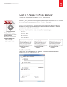 Acrobat X Action: File Name Stamper