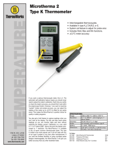 Microtherma 2 Type K Thermometer