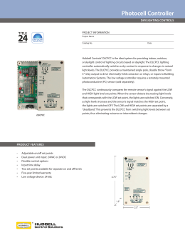 Photocell Controller - Hubbell Control Solutions