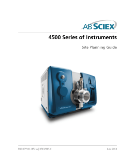 4500 Series of Instruments Site Planning Guide