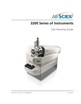 3200 Series of Instruments Site Planning Guide