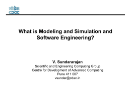 What is Modeling and Simulation and Software Engineering?