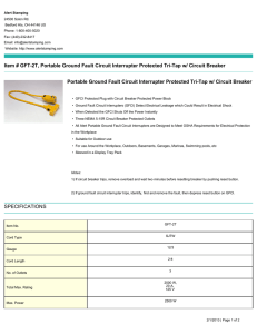 Item # GFT-2T, Portable Ground Fault Circuit