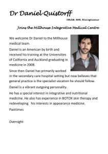 Dr Daniel Quistorff - Millhouse Integrative Medical Centre
