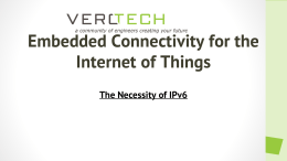 Embedded Connectivity for the Internet of Things