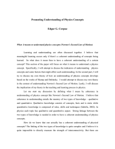 Promoting Understanding of Physics Concepts Edgar G. Corpuz