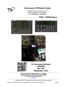 Technisonic FM Radio Guide - Technisonic Industries Ltd.