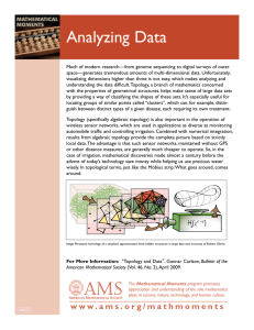Analyzing Data - American Mathematical Society