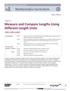 Measure and Compare Lengths Using Different Length Units