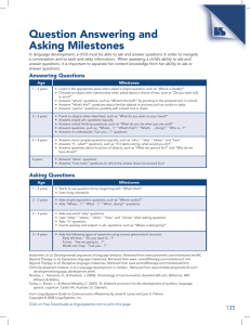 Question Answering and Asking Milestones