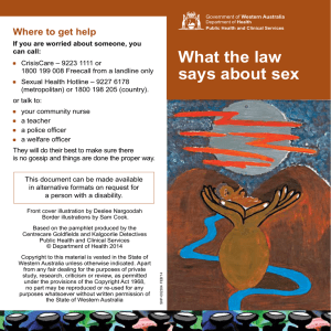 What the law says about sex