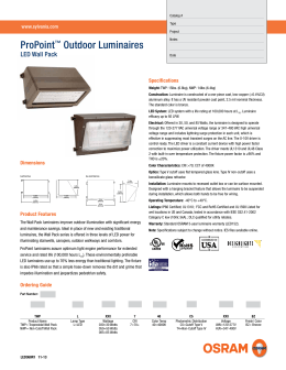 ProPoint™ Outdoor Luminaires