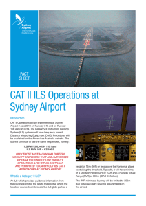 CAT II ILS Operations at Sydney Airport