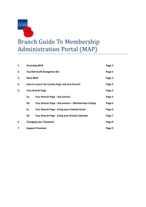 Branch Guide To Membership Administration Portal (MAP)