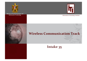 Wireless Communication Track Intake 35