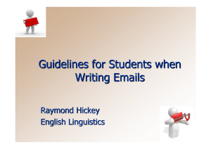 Guidelines for Students when Writing Emails