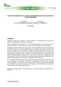 Stator deformation of large hydrogenerators and its effects on the