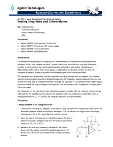 Testing Integrators and Differentiators